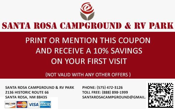 Santa Rosa Campground Discount Coupon