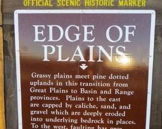 Edge of Plains Marker