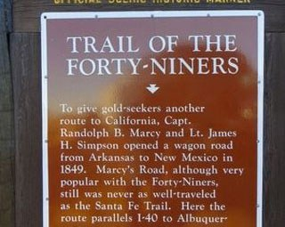Trail of the Forty-Niners Marker