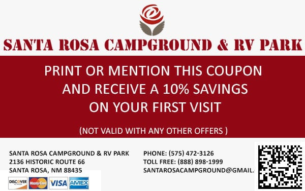 Santa Rosa Campground Discount Coupon